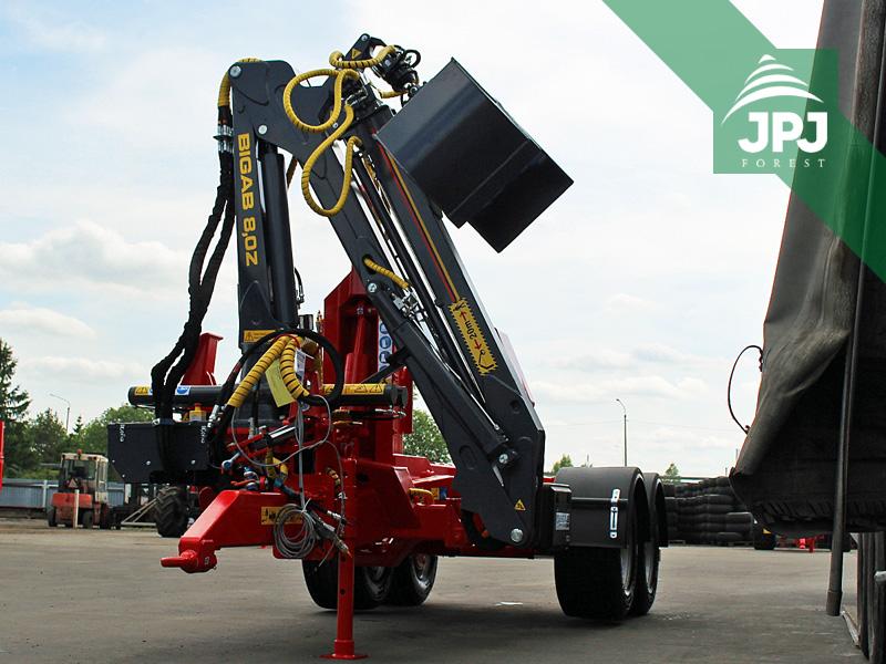 hydraulický žeriav na traktorové nosiče kontajnerov BIGAB